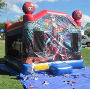 The bounce house was also a hit